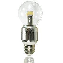 LED-Birne klar E27 9 Watt, copyright PolyTrade GmbH, alle Rechte vorbehalten