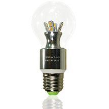 LED-Tisch Birne klar E27 6 Watt dimmbar , copyright PolyTrade GmbH, alle Rechte vorbehalten