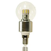 LED-Birne klar E14 6 Watt dimmbar, copyright PolyTrade GmbH, alle Rechte vorbehalten