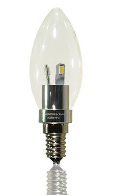 LED-Kerze klar E14 3 Watt