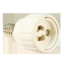 Adapter-E14-GU10, copyright PolyTrade GesmbH, alle Rechte vorbehalten