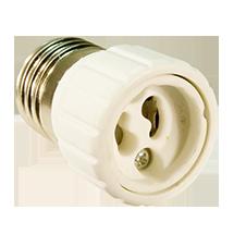 Adapter-E27-GU10, copyright PolyTrade GesmbH, alle Rechte vorbehalten,